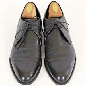 Hand Made Italy V-Cleat Lace Up Dress Shoe Leather Men Sz 11 1/2 11.5 B EUC