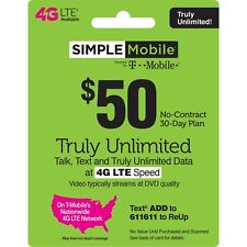 SIMPLE MOBILE $50 PLAN - 3 MONTH SERVICE INCLUDED ($150 VALUE)