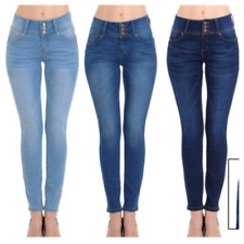 8584c69068e Wax Jean Women s Push-Up 3 Button Skinny True Stretch Jean BUTT I LOVE!