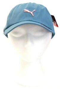 Puma Signature Blue Baseball Cap Hat Strapback Women's One Size NWT