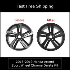 Chrome Delete Vinyl Blackout Kit for 2018-20 Honda Accord Sedan Sport Wheel Rim