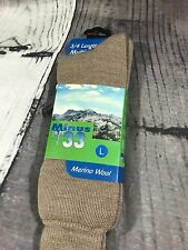 Minus 33 Mens L 3/4 Length Multisport Sock Merino Wool 901 Tan