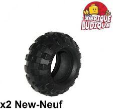 Lego - 2x Tire Pneu 56 x 26 Balloon noir/black 55976 NEUF