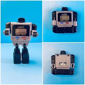 Vintage Transformer Robot Digital Watch - QUINTEL ROBOT WATCH 1980s HTF