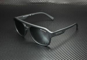 ARMANI EXCHANGE AX4074S 80786G Mt Black Lt Grey Mir Black 57 mm Men's Sunglasses