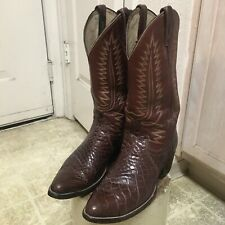 VINTAGE DAN POST WESTERN COWBOY ALLIGATOR BOOTS GREAT COND NOT MUCH USED 9 D