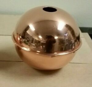 POLISHED COPPER BALL  quality made 4'' for weathervane/ LIGHTENING ROD