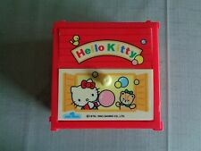 Vintage Sanrio Hello Kitty Red Plastic Chest Trinket Box 1976 1993 Made in Japan
