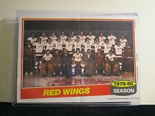 1979-80 DETROIT RED WINGS TEAM PHOTO TOPPS 5X7 WITH TOP LOADER