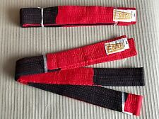 2x Black & Red Karate Belt 300cm - Karate Master Fancy Dress - Higher than Black
