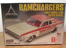 Lindberg 1:25 Scale RAMCHARGERS 1964 DODGE 330 SUPER STOCK car model kit SKILL 2