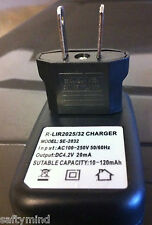 Brand New Smart Charger for Dual Li-Ion Button Cells 3.6V LIR2032 2032 LIR2025