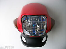Red Motorcycle Headlight 125 DT GN GY SR CG MTX CC GSF XL XLR LEXMOTO CHINESE