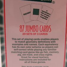 Geometry Definition Playing Cards for Middle School Students New Legani Math