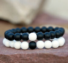 Couples Bracelet Yin Yang Matching Beaded Bracelets Her His Boyfriend/Girlfriend