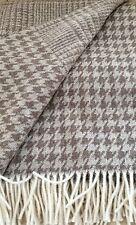 Manta de lana lana cuadros, colcha, cubierta SOFA 135x180 cm 100% Lana