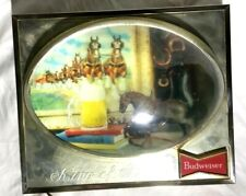 New listing Vintage Budweiser Beer Lighted Bubble Hologram Clydesdale Sign 1960's