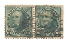 Scott 226 Pair... Early US Stamp 10c Webster...1894..Town Cancel
