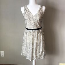 Ivory with Black Lace Dress Size 3/4