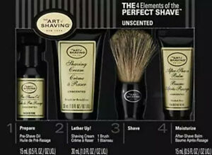 The Art of Shaving The 4 Elements of the Perfect Shave Unscented NIB