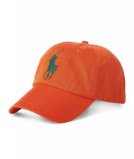 NWT New Ralph Lauren POLO Men Orange Cotton Sport Adjustable Baseball Cap $59.50