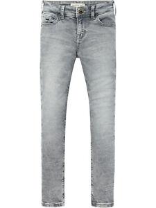 Scotch & Soda 144330, Jeans für Jungen, Super Skinny Fit, Tigger, grau
