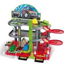 Parkgarage Parkhaus mit 3 Ebenen Autogarage Autos Spielzeug Tankstelle Garage