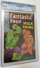 Fantastic Four #112 CGC 8.0 OW Pages Classic Hulk vs Thing Battle Issue