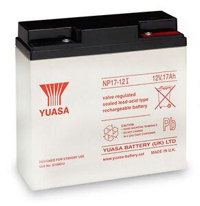 YUASA NP17-12, 12V 17AH (as 18Ah & 20Ah) VRLA LEAD ACID RECHARGEABLE UPS BATTERY