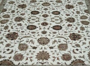 4'x6'| 6'6x9'6| Rug | Modern Luxury Hand Knotted Wool-Silk Ivory-Ivory  Area Rug