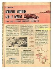1961 DOCUMENT (ref IT 637) AUTO : MISSION BERLIET EN AFRIQUE   1p