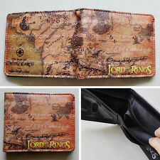 Movie The Lord of the Rings Map Logo wallets Purse Brown 12cm Leather New