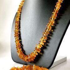 Naturel Baltique ambre (pas pressé, pas améliorée) collier & bracelet perles 8-1