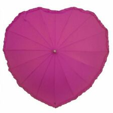 Frilly Heart Shaped Umbrella in Hot Pink