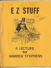 E Z Stuff by Warren Stephens - Signed Lecture Notes