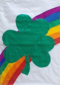 "Rainbow Shamrock St. Pat's Standard House Flag by CBK, 28"" x 40"" #2158"
