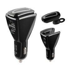 Bluetooth Headset Stereo Wireless Headphone with Mic Hands-free Car Charger