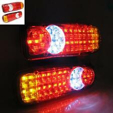 Led Rear Tail Truck Lights Lorry Tipper Trailer Transporter Chassis Caravan 12v
