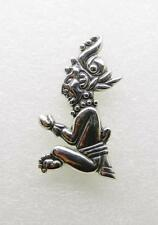 VINTAGE MEXICAN STERLING SILVER INDIAN BROOCH/PENDANT - RARE -  LB-C0743