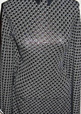 Black and White Transparent Sequin Dot Lycra Stretch Fabric 1 Yard 18 Inches