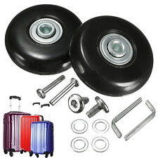 US STOCK 2 Set Luggage Suitcase Replacement Wheels Repair OD 50mm Axles Deluxe