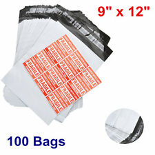 100 POLY MAILER ENVELOPE 9x12 Shipping Supplies Mailing Self Sealing Bag 2.4 mil