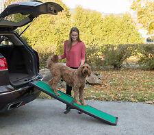 "NEW! Pet Gear Travel Lite Bi-Fold Dog/Cat Ramp with supertraX carpet 66"" Long"