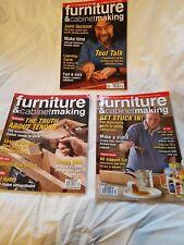 Furniture & Cabinetmaking Magazines 2008. January, April, May