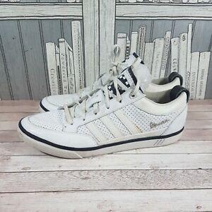 Adidas Vespa Men's White Leather Trainers Size Uk 8 eur 42