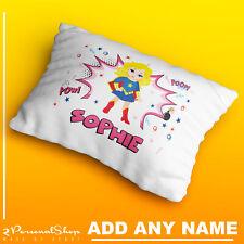 Personalised Superhero Pillowcase Printed Children Gift Custom Print New
