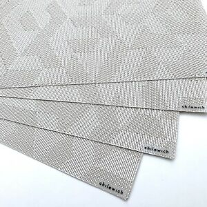 """(4) CHILEWICH Prism Placemats in Natural 14""""x19"""""""
