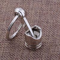 1pc Keyring Universal Car Metal Piston Keychain Keyfob Engine Fob Key Chain Ring