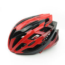 VIVIMAX Aero Road Bike Bicycle Cycling Helmet L/XL 58-62cm - Shinny Black x Red