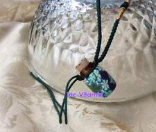10pcs Essential Oil Perfume Diffuser Necklace Refill Flora Glass Bottle Wood Lid